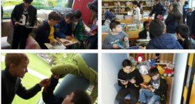 Ausflug in die Stadtbücherei – 2a und 2b