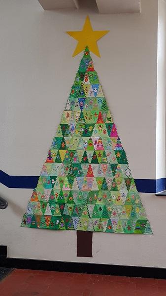 Weihnachtsbaum Riesenpuzzle